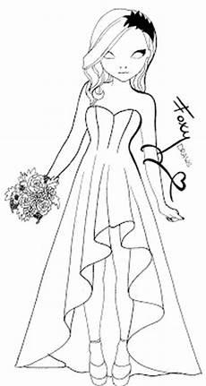topmodel malen ausmalbild hochzeitskleid topmodel