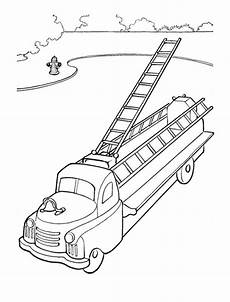 truck and ladder coloring page coloring sky