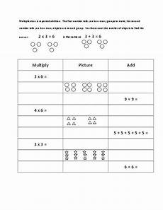 multiplication repeated addition worksheets grade 3 4736 teacherlingo 0 00 this is a simple and worksheet to help reinforce the idea that