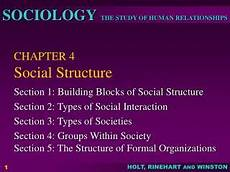 ppt chapter 4 social structure powerpoint presentation id 396892