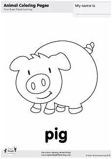 animals colouring pages for kindergarten 16979 free pig coloring page from simple learning tons of free farm animal worksheets and