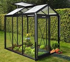 Gewächshaus Glas Kaufen - acd aluminium glas gew 228 chshaus piccolo schwarz 3 56m 178