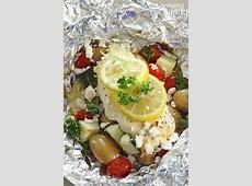 Greek Lemon Chicken Foil Packets with Vegetables
