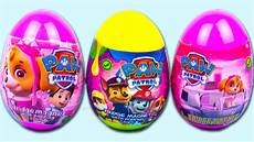 3 surprise eggs paw patrol awesome surprise toys in pink plastic egg for kids youtube