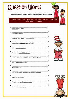 worksheets question words 18435 question words elementary worksheet