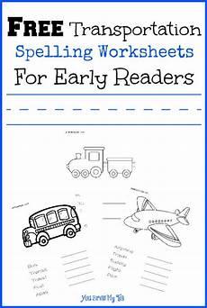 homeschool spelling worksheets 22416 free transportation spelling worksheets for early readers spelling worksheets early readers
