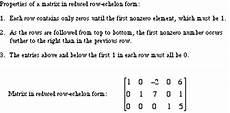 mathwords reduced row echelon form of a matrix