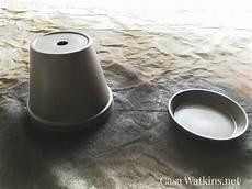 hammered brown painted terra cotta pot makeover casa watkins living