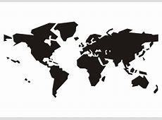 Kleurplaat wereldkaart   Afb 15641.