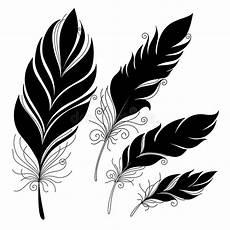 Malvorlagen Xl Wings Vector Peerless Decorative Feather Stock Vector Image