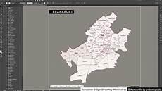 postleitzahlenkarte frankfurt grebemaps 174 kartographie