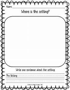 kindergarten setting graphic organizer worksheets rl k 3 by ashley s goodies