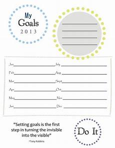 goals sheet new years resolutions paper group