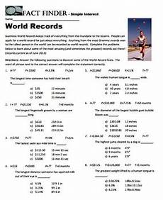 fact finder simple interest worksheet by the math factory tpt