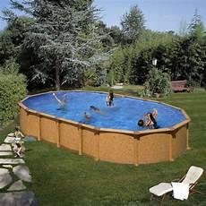 piscine hors sol piscine hors sol acier gre alto aspect bois 6 10m x 3 75m