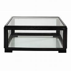 table basse metal verre table basse carr 233 e en verre et m 233 tal l 80 cm