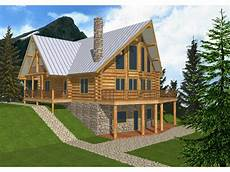 a frame house plans with walkout basement mountview a frame log home mountain house plans