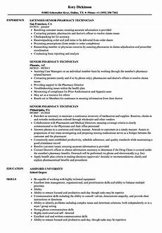 13 pharmacy technician resume template format