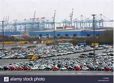 new cars port bremerhaven germany stockfotos new cars