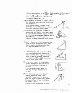 trigonometry word problems worksheets with answers 11171 mrsmartinmath licensed for non commercial use only math 406