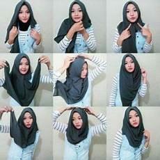 Tutorial Memakai Jilbab Rawis Segi Empat Simple Model