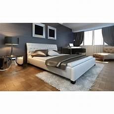 lit moderne blanc lit en cuir 140 215 200 cm blanc moderne lit achat