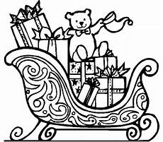 sleigh coloring pages santa sleigh printables