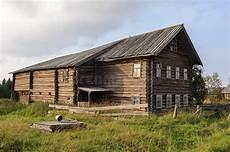 Altes Gro 223 Es Holzhaus In Nord Russland Stockbild Bild
