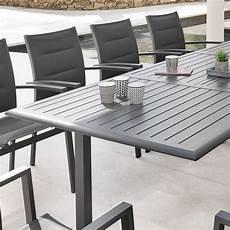 table aluminium jardin table de jardin extensible aluminium azua max 300 cm