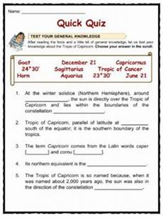 tropic of capricorn facts worksheets location latitude