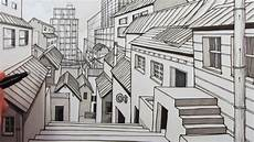 How To Draw A City Using 1 Point Perspective Narrated