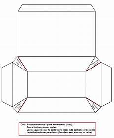 molde caixa de papel imprimir convites digitais simples caixas sacolinhas etc com
