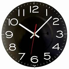 Blue Quartz Black Wall Clock by Timekeeper Products 11 1 2 In Black Wall Clock With