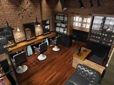Photo Barbershop Interior Bostoncap Barber 4 Desain