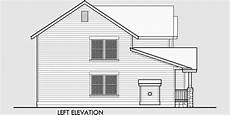 side view house plans two story craftsman plan with 4 bedrooms 40 ft wide x 40