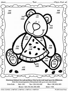 two digit subtraction with regrouping coloring worksheets 10622 color by number melon math 3 digit addition subtraction with regrouping subtraction