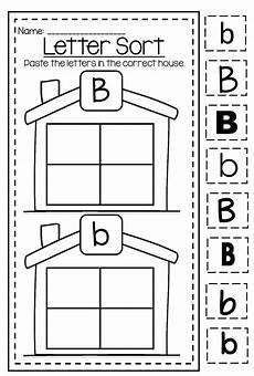 letter c sorting worksheets 24079 letter b capital and lower differentiation alphabet printable worksheet bundle
