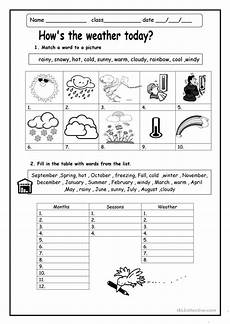 activity worksheets about weather how s the weather worksheet free esl printable