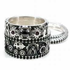 gear ring wedding band items similar to steunk gear ring engagement