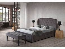 lit chambre lit adulte 140x190 cm 4 tiroirs de rangement luanda