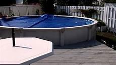 piscine hors sol rouleau invisible pour toile solaire de piscine enrouleur