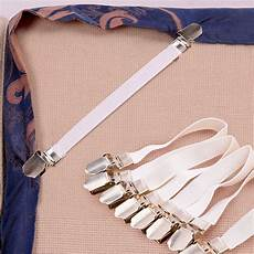 4 pcs folded non elastic bed sheet white grippers fasteners for bed corners ebay