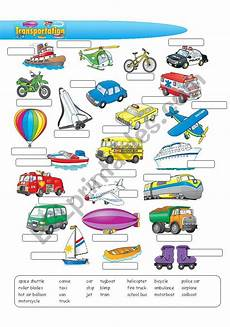 transportation worksheets esl 15184 transportation esl worksheet by alisadedic