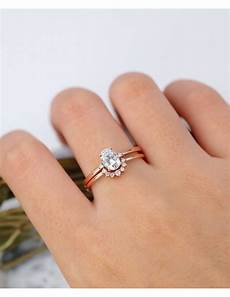 oval moissanite engagement ring rose gold engagement