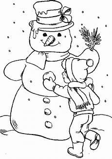 ausmalbild winter kinderbilder