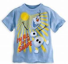 disney store frozen olaf t shirt quot i m all out of shape