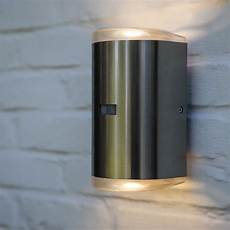 lutec path pir 16w exterior led up and down wall light in
