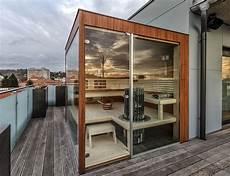 wellnessbereich selber bauen beta wellness sauna balkon terrasse beta wellness