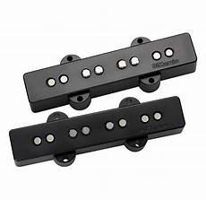 dimarzio ultra jazz bass pickup pair black dp149 reverb