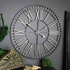 extra large rustic gold skeleton wall clock windsor browne